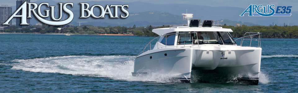 Argus Boats E35 Cruising Power Catamaran Photo Gallery